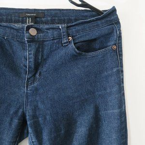 Forever 21 Denim Straight Blue Jeans